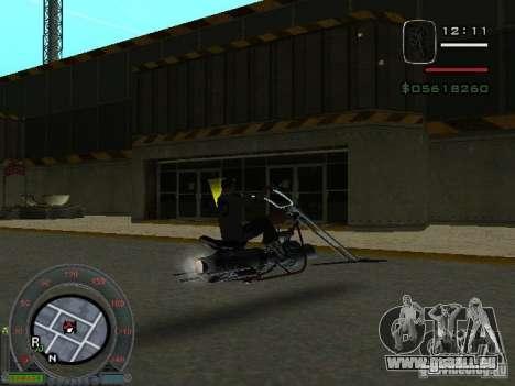 Motard moto de la ville de Alien pour GTA San Andreas vue de droite