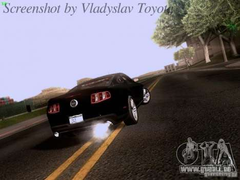 Ford Mustang GT 2011 Unmarked pour GTA San Andreas vue de droite