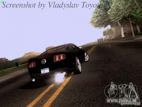 Ford Mustang GT 2011 Unmarked für GTA San Andreas rechten Ansicht
