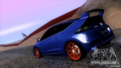 Honda CR-Z Mugen 2011 V1.0 pour GTA San Andreas laissé vue