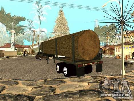 Arbre abattu pour GTA San Andreas sur la vue arrière gauche