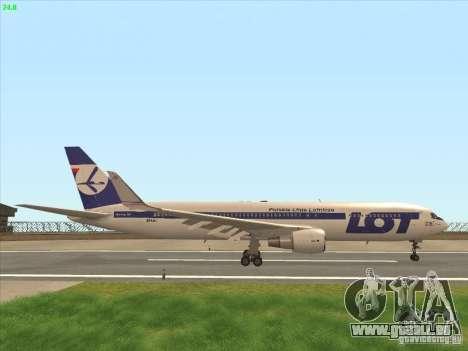 Boeing 767-300 LOT Polish Airlines pour GTA San Andreas vue de côté
