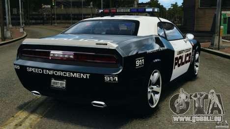 Dodge Challenger SRT8 392 2012 Police [ELS][EPM] pour GTA 4 Vue arrière de la gauche