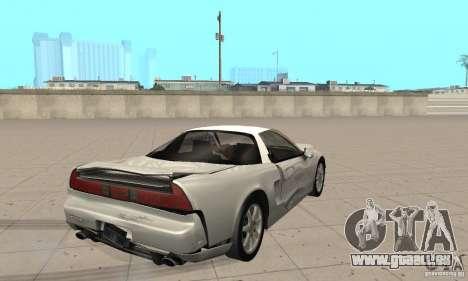 Acura NSX 1991 pour GTA San Andreas vue de côté