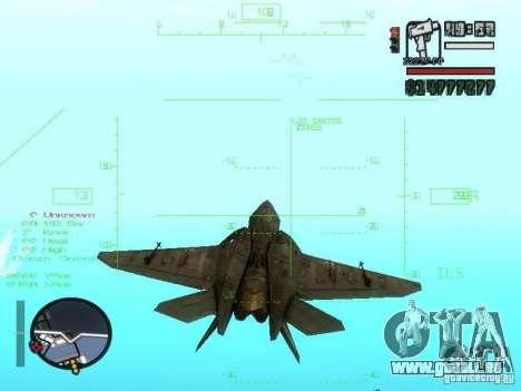 Xa-20 razorback pour GTA San Andreas vue arrière