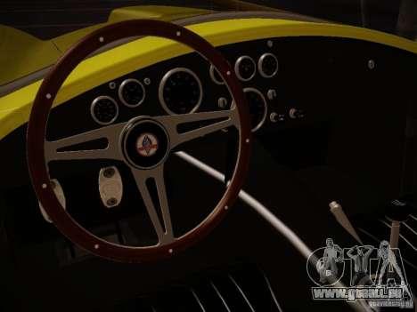 Shelby Cobra 427 pour GTA San Andreas vue de droite