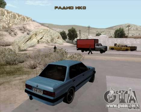 BMW M3 E30 323i street pour GTA San Andreas sur la vue arrière gauche
