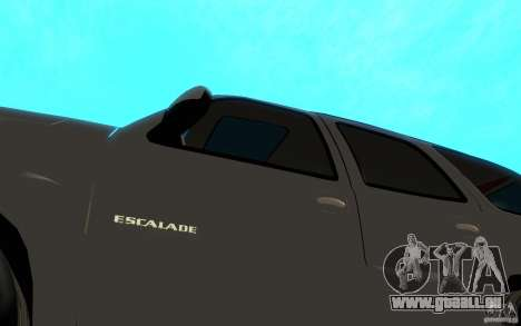 Cadillac Escalade für GTA San Andreas Innenansicht