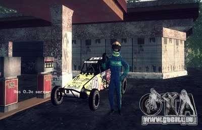 Buggy Monster-Energie für GTA San Andreas zurück linke Ansicht
