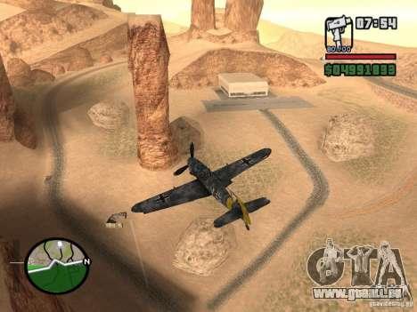 BF-109 G-16 für GTA San Andreas zurück linke Ansicht