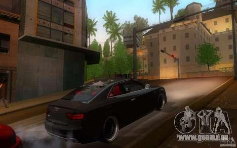 Audi S5 Black Edition für GTA San Andreas rechten Ansicht