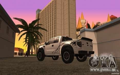 Ford F150 SVT RapTor für GTA San Andreas obere Ansicht