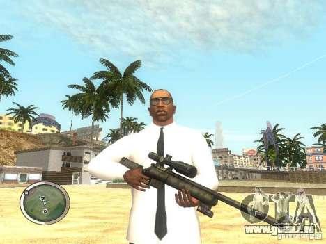 Sniper - Forest Camouflage pour GTA San Andreas deuxième écran