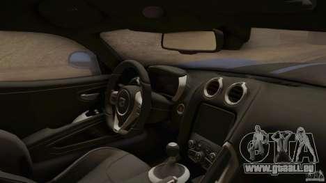 Dodge Viper GTS 2013 pour GTA San Andreas vue de droite