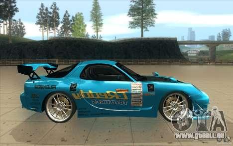 Mazda RX-7 911 Trust für GTA San Andreas Innenansicht