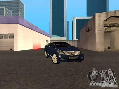 Hyundai Azera 2012 pour GTA San Andreas sur la vue arrière gauche