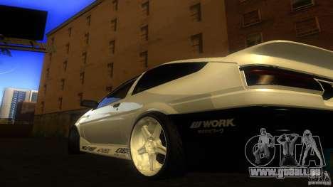 Toyota AE86 Trueno Touge Drift pour GTA San Andreas sur la vue arrière gauche