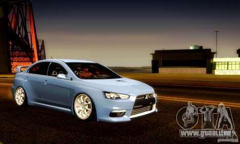 Mitsubishi Lancer Evolution X für GTA San Andreas Motor