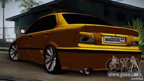 BMW M3 Z366 pour GTA San Andreas vue de droite
