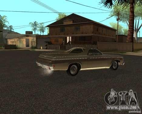 Chevrolet El Camino 1973 pour GTA San Andreas sur la vue arrière gauche