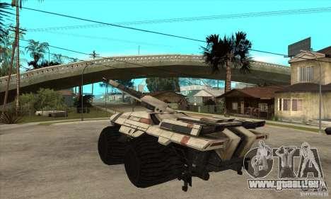 M35 Mako pour GTA San Andreas sur la vue arrière gauche