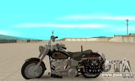 Harley Davidson FLSTF (Fat Boy) v2.0 Skin 5 pour GTA San Andreas laissé vue