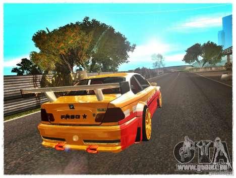 BMW M3 Calibri-Ace pour GTA San Andreas sur la vue arrière gauche