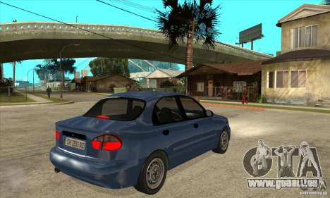 Daewoo Lanos v2 pour GTA San Andreas vue de droite