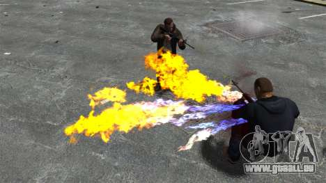 Balles de feu pour GTA 4 quatrième écran