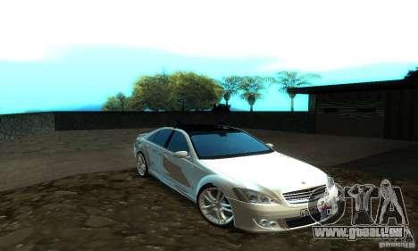 Mercedes-Benz S500 W221 Brabus für GTA San Andreas linke Ansicht