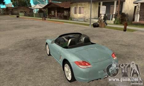 Porsche Boxster S 2010 für GTA San Andreas zurück linke Ansicht
