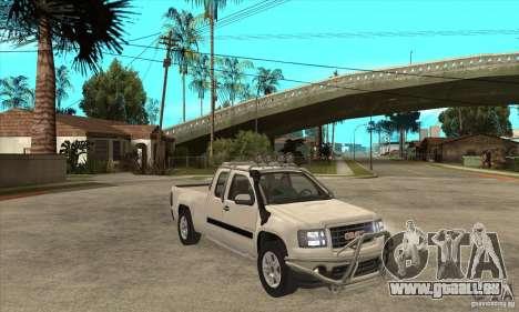 GMC Sierra pour GTA San Andreas vue arrière