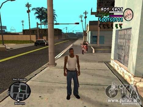 HUD by Hot Shot v.2.2 for SAMP pour GTA San Andreas deuxième écran