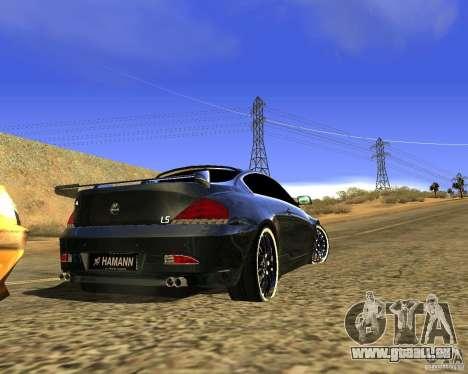 BMW M6 pour GTA San Andreas vue arrière