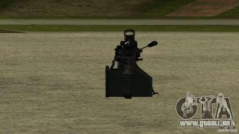 M240 pour GTA San Andreas quatrième écran