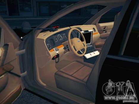 Ford Crown Victoria Police Intercopter pour GTA San Andreas vue de dessous