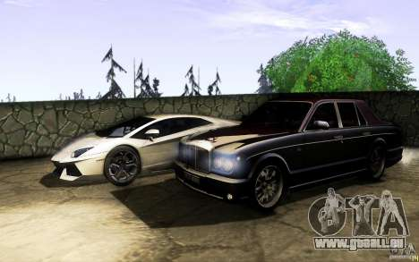 Bentley Arnage R 2005 für GTA San Andreas obere Ansicht