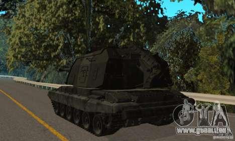 Msta-s 2s19, version hiver pour GTA San Andreas vue de droite