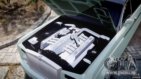 Rolls Royce Phantom Sapphire Limousine Disco pour GTA 4 vue de dessus