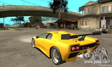 Lamborghini Diablo GT-R 1999 für GTA San Andreas zurück linke Ansicht