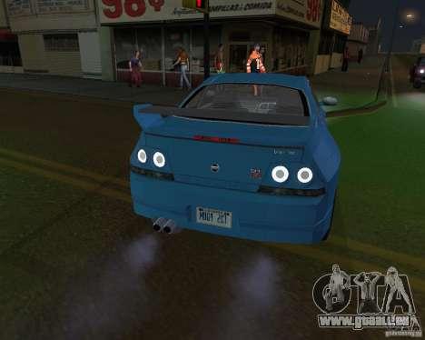 Nissan Skyline GT-R R-33 für GTA San Andreas zurück linke Ansicht