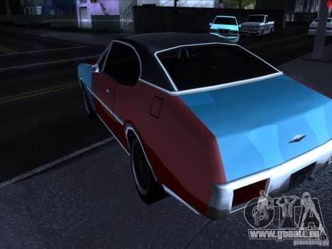 Couleurs plus vives pour les voitures pour GTA San Andreas quatrième écran