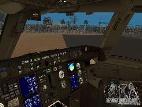 Boeing 757-200 American Airlines für GTA San Andreas Rückansicht