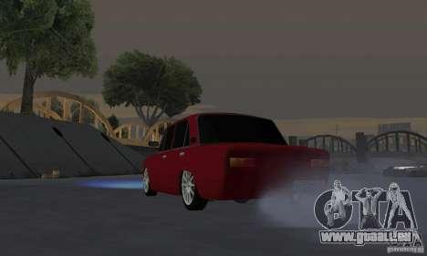 VAZ 2101 restylage pour GTA San Andreas vue arrière