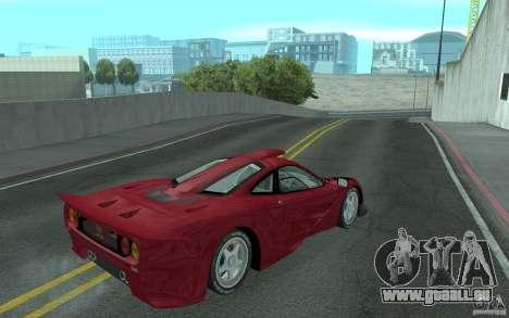 Mclaren F1 GT (v1.0.0) pour GTA San Andreas vue de droite
