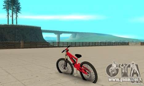 Neue BMX für GTA San Andreas zurück linke Ansicht