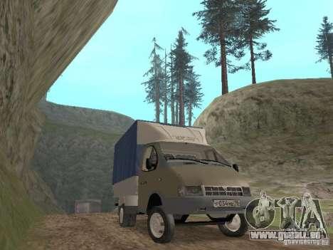 GAZ 3302 im Jahr 2001. für GTA San Andreas Rückansicht