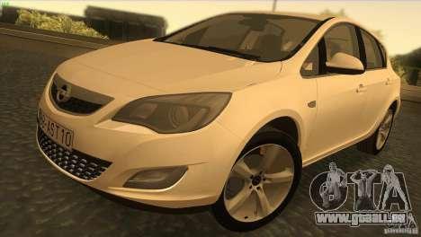 Opel Astra 2010 pour GTA San Andreas vue intérieure