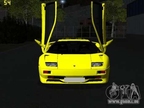 Lamborghini Diablo SV pour GTA San Andreas vue arrière