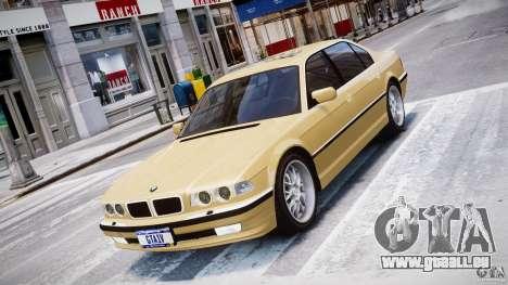 BMW 750i v1.5 pour GTA 4 est une vue de l'intérieur
